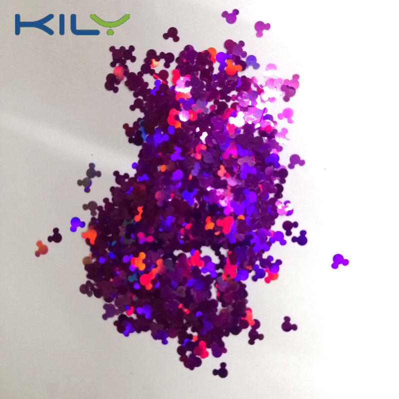 KILY Shapes Glitter Mickey Head Laser Glitter for Party LB800