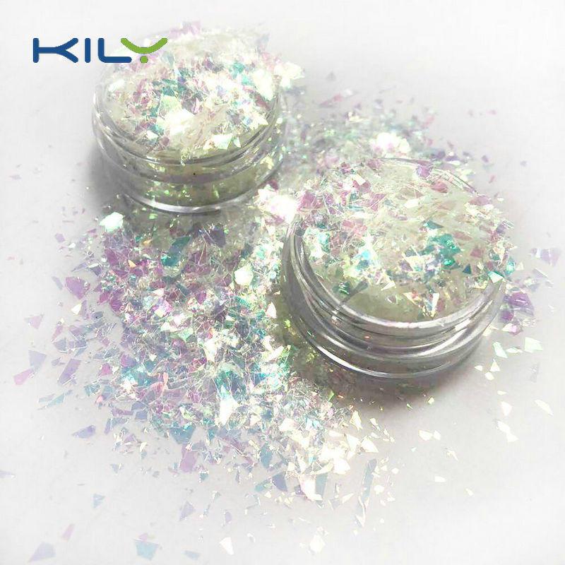 KILY Irregular Shapes Glitter Small Flake Iridescent Glitter C03