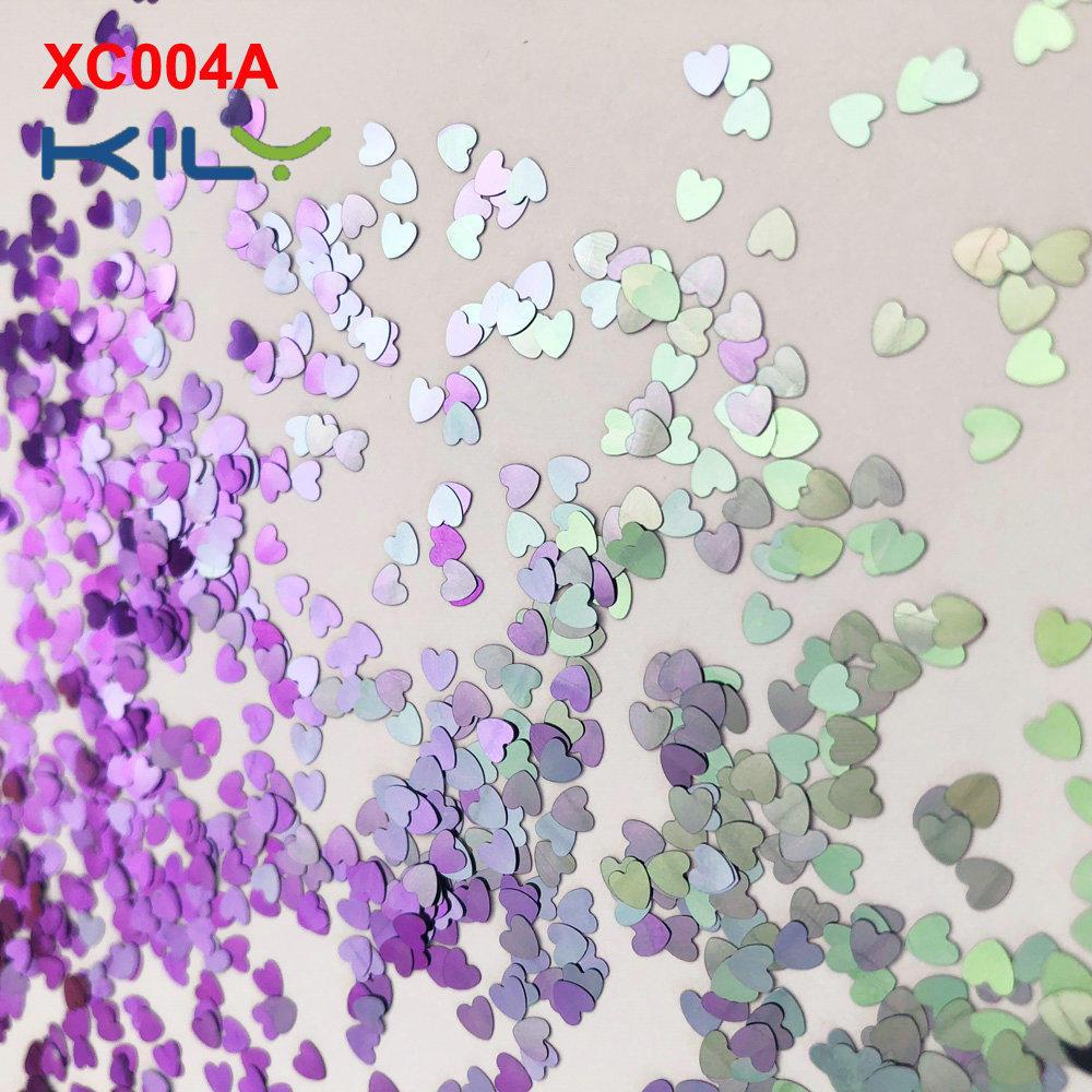 KILY Heart Shapes Shifting Glitter Colors Glitter for COACHELLA Makeup XC004A