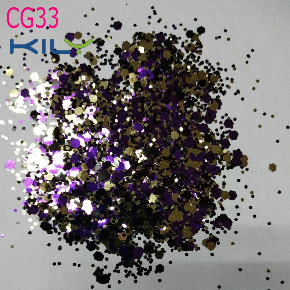 KILY Cosmetic Bulk Glitter Cosmetic Chunky Glitter for Easter CG33