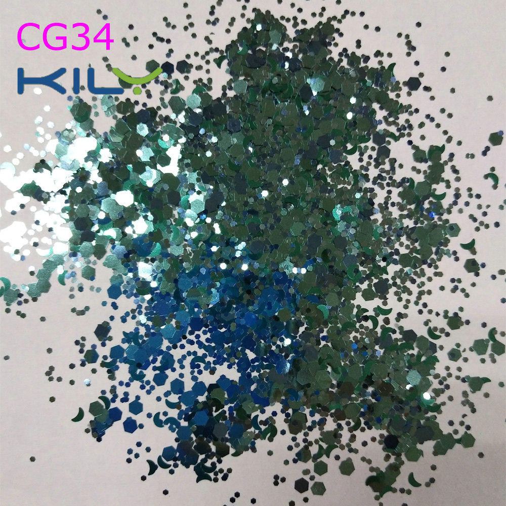 KILY Festival Mix Colors Glitter Face Chunky Glitter for Coachella CG34