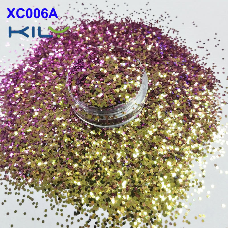 KILY Factory Price Cosmetic Shifting Change Color Glitter for Festival XC006A