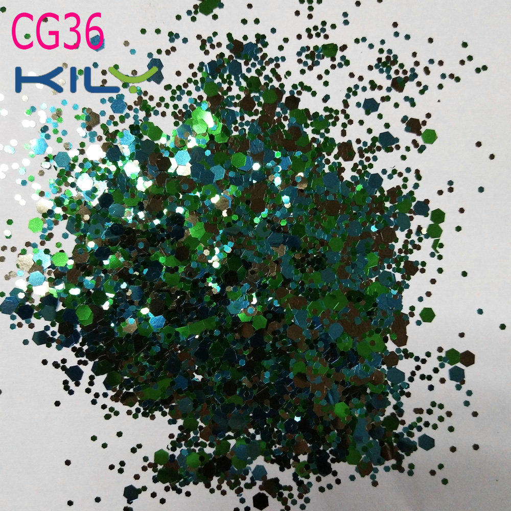 KILY Party Glitter PET Cosmetic Sparkle Glitter for Eyes CG36