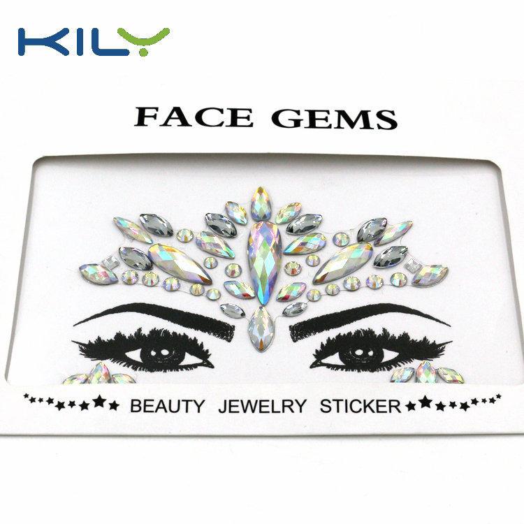 KILY New Design Face Gems Beauty Sticker For Music Festival KB-1145