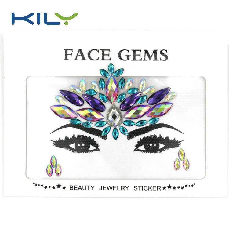 KILY Custom Face Jewels Sticker Body Gems for Party Makeup KB-1146