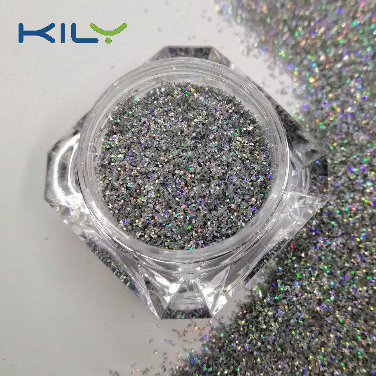 KILY Biodegradable Holographic Silver Glitter Laser Glitter for Body  LB100