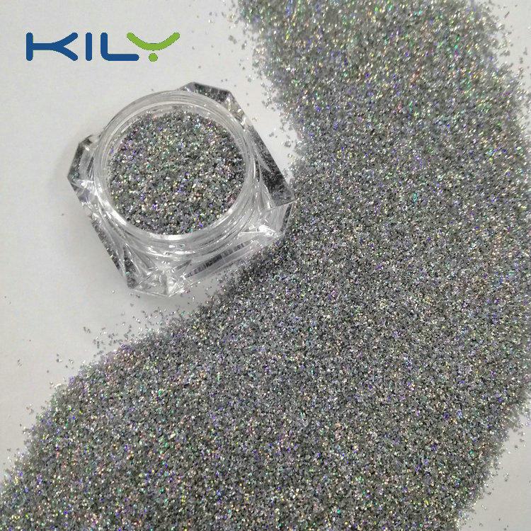 KILY Biodegradable Holographic Silver Glitter Laser Glitter for Body  LB100