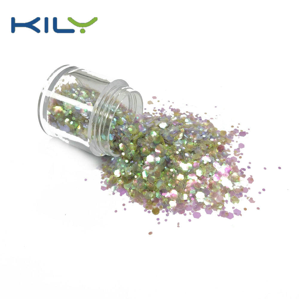 KILY Cosmetic bulk glitter mix color chunky glitter for party makeup CG40