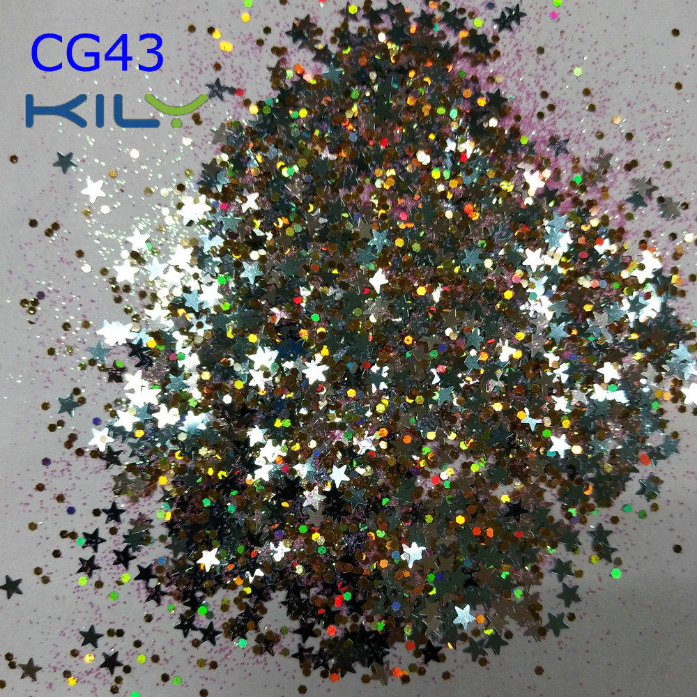 KILY Star Chunky Loose Glitter Face Nail Body Art CG43