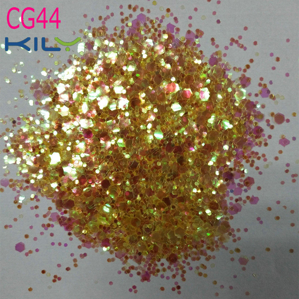 KILY Orange Iridescent Chunky Glitter Makeup  Cosplay Beauty CG44
