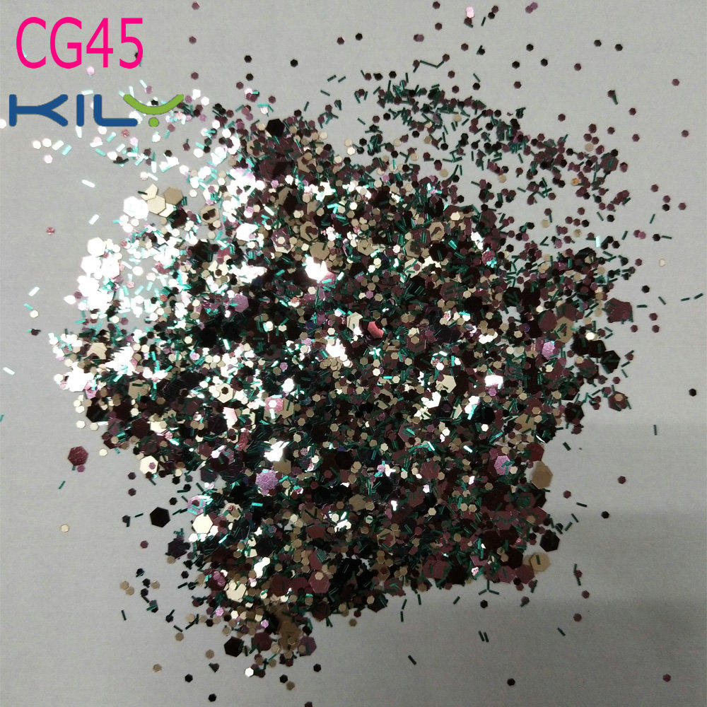 KILY Cosmetic Festival Chunky Body Glitter for Nail Hair Face CG45