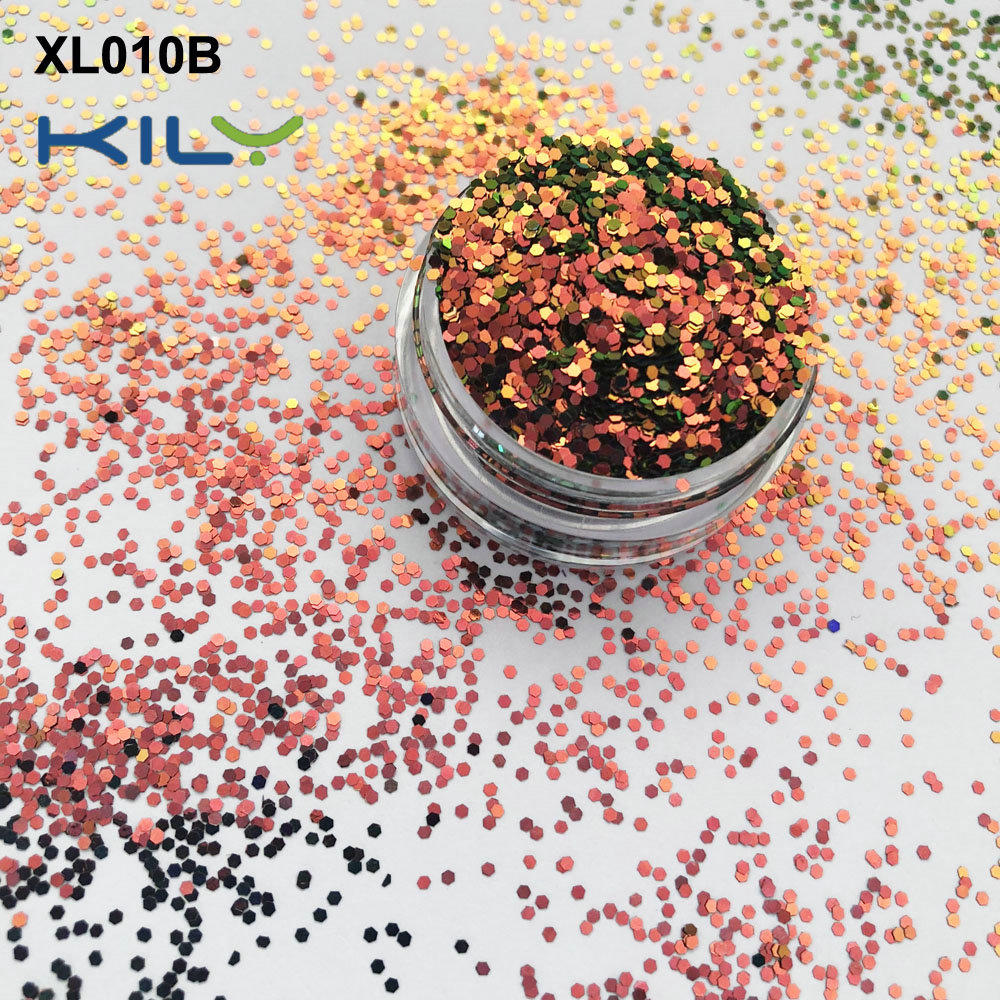 KILY Rainbow Shifting Glitter PET Cosmetic Sparkle Glitter for Party XL010B