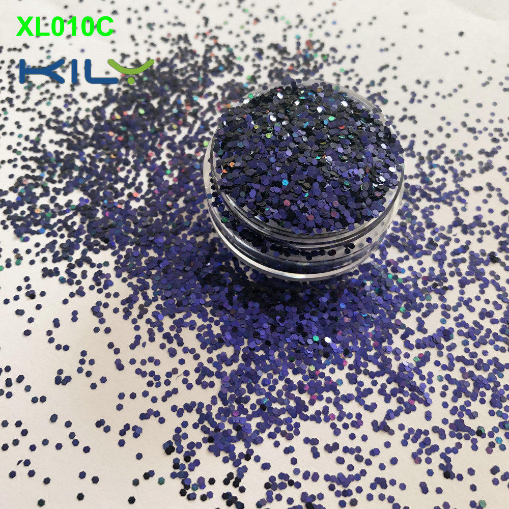 KILY change color new glitter PET makeup glitter for hair XL010C