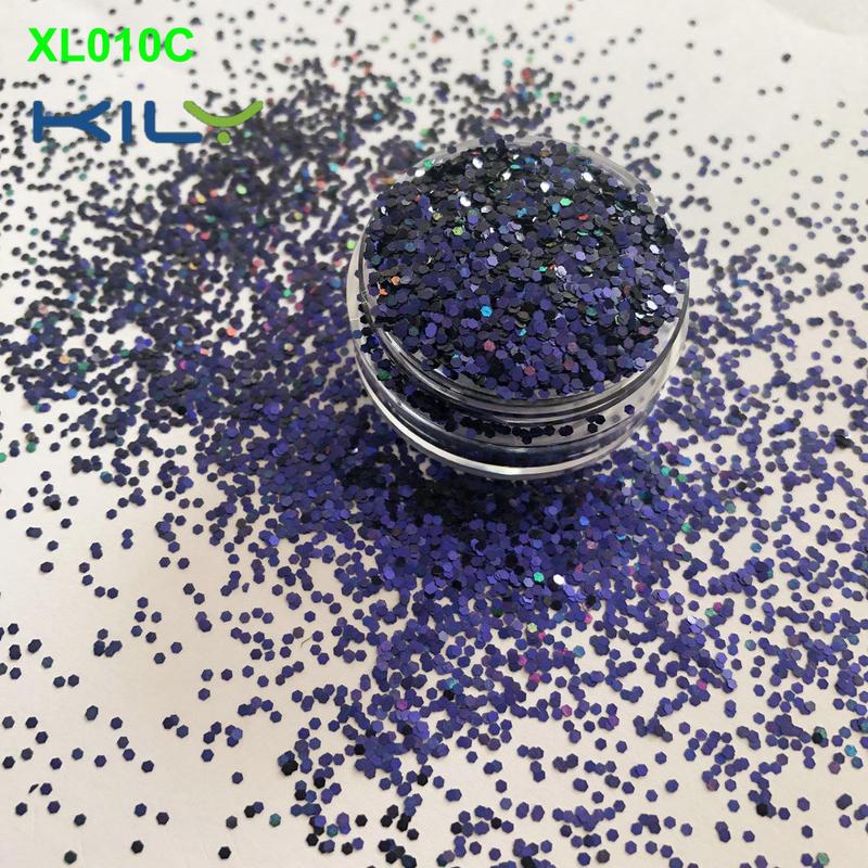 KILY change color new glitter PET makeup glitter for hair XL010C