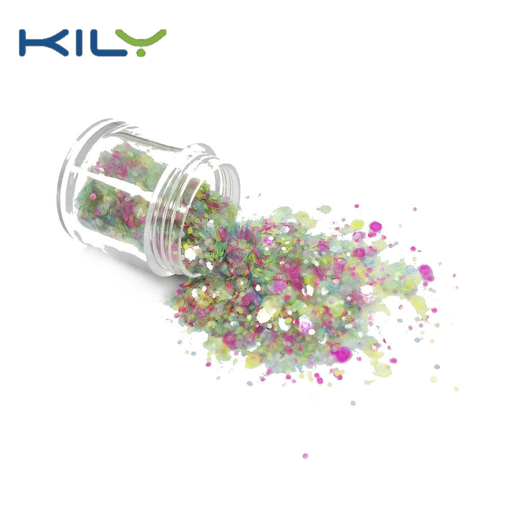 KILY Bulk Glitter Polyester Cosmetic Glitter for Carnival Party CG47