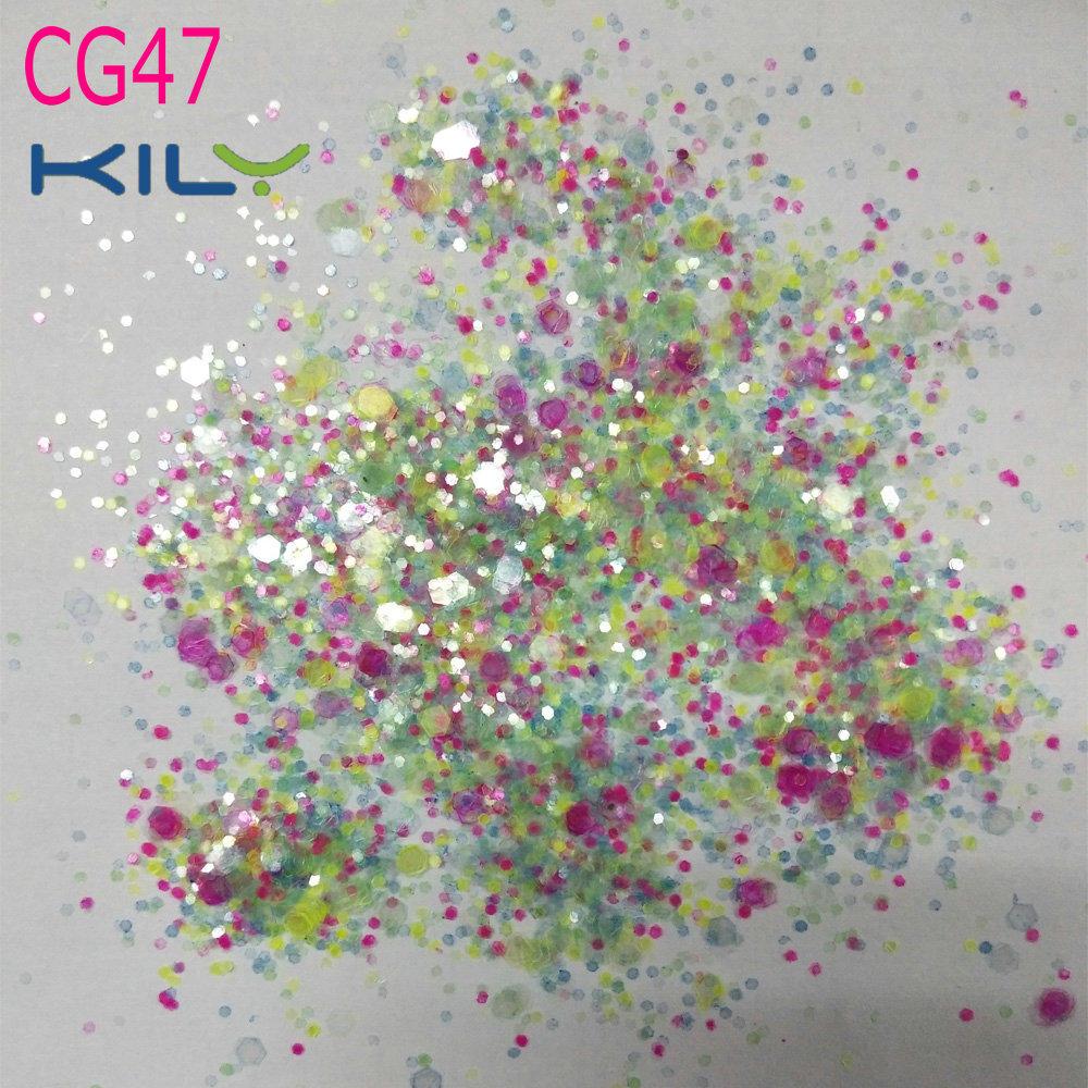 KILY Bulk Glitter Polyester Cosmetic Glitter for Carnival Party CG47
