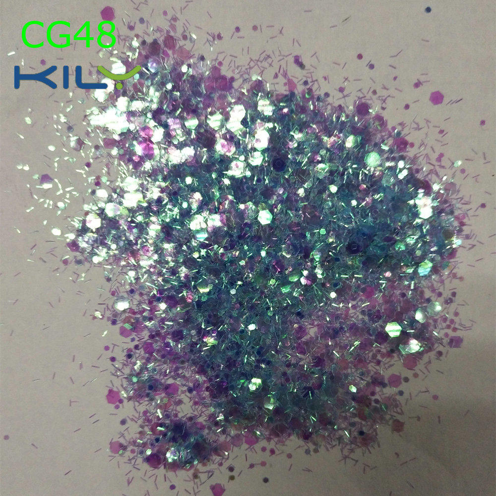 KILY Mix Color Chunky Eye Makeup Glitter for Festival CG48