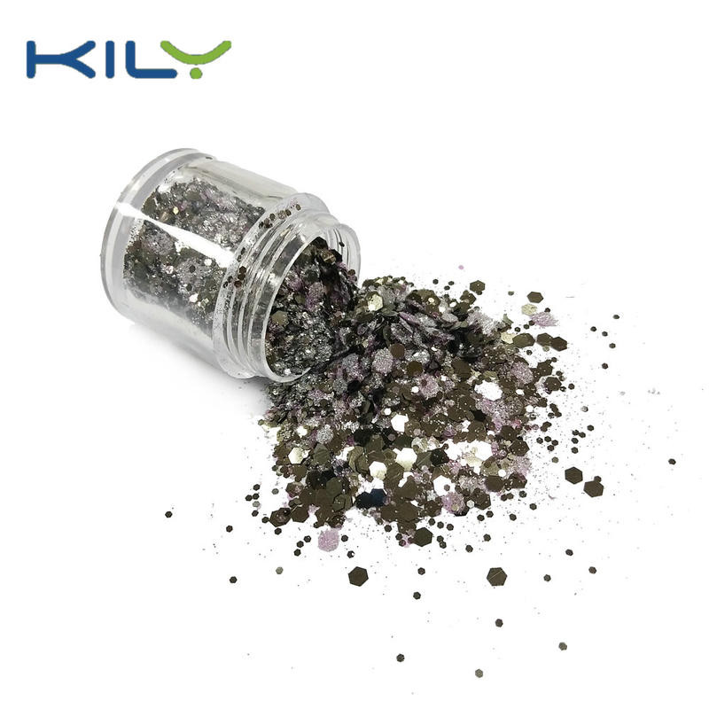 KILY Cosmetic PET 10g Jars Chunky Glitter Mix Glitter CG50