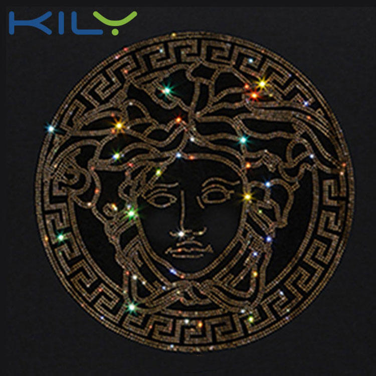Hot Fix Rhinestone Transfer Crystal Iron on Motif for Clothes KH-1001