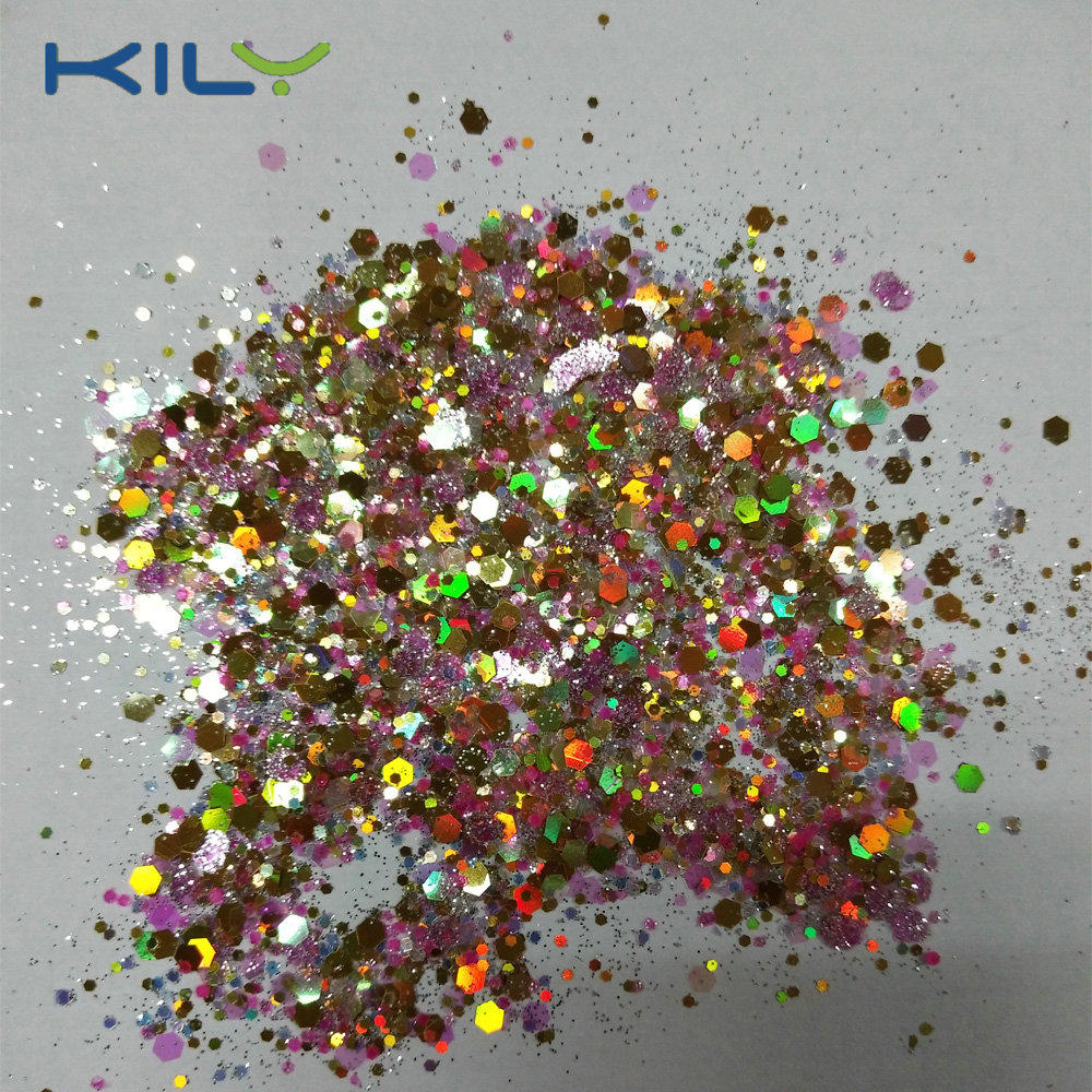 KILY Cosmetic Pot Glitter with your brand LOGO Chunky Glitter  CG52