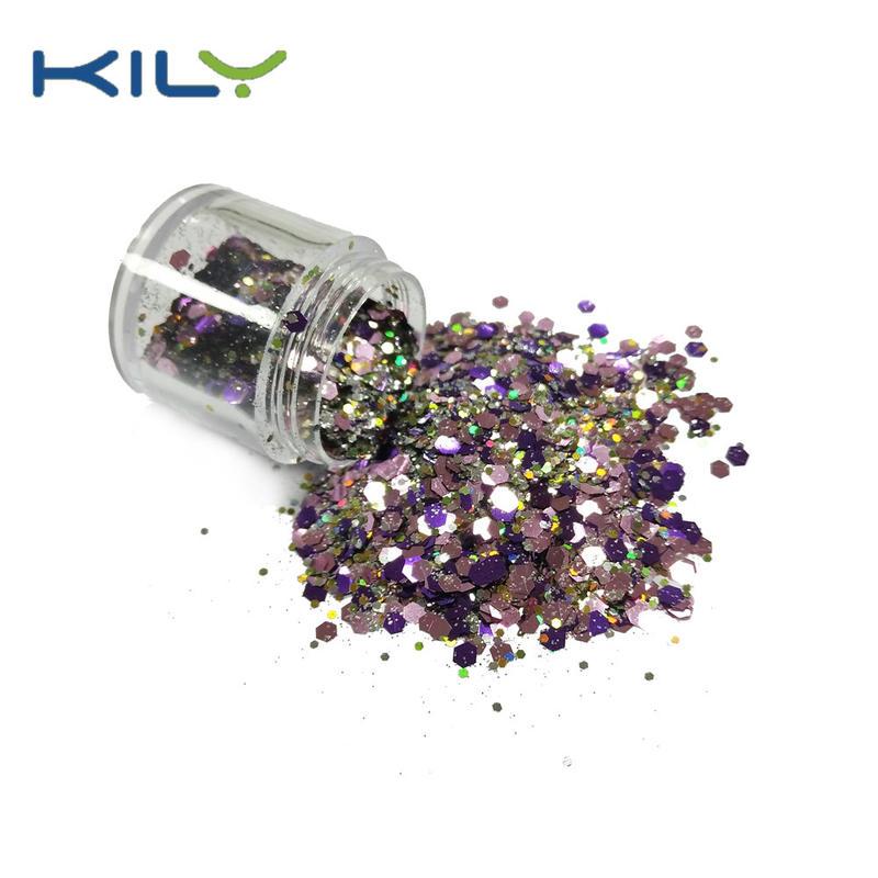 KILY Chunky Glitter 10g Jar Cosmetic Glitter for Eye Makeup CG54