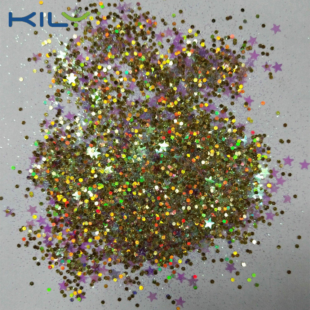 KILY 5g Pot Cosmetic Chunky Glitter Mix Color Glitter for Face CG55