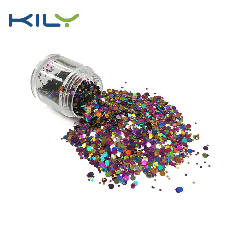 KILY Cosmetic Chunky Mixed Color Rainbow Glitter for Pride Day CG56