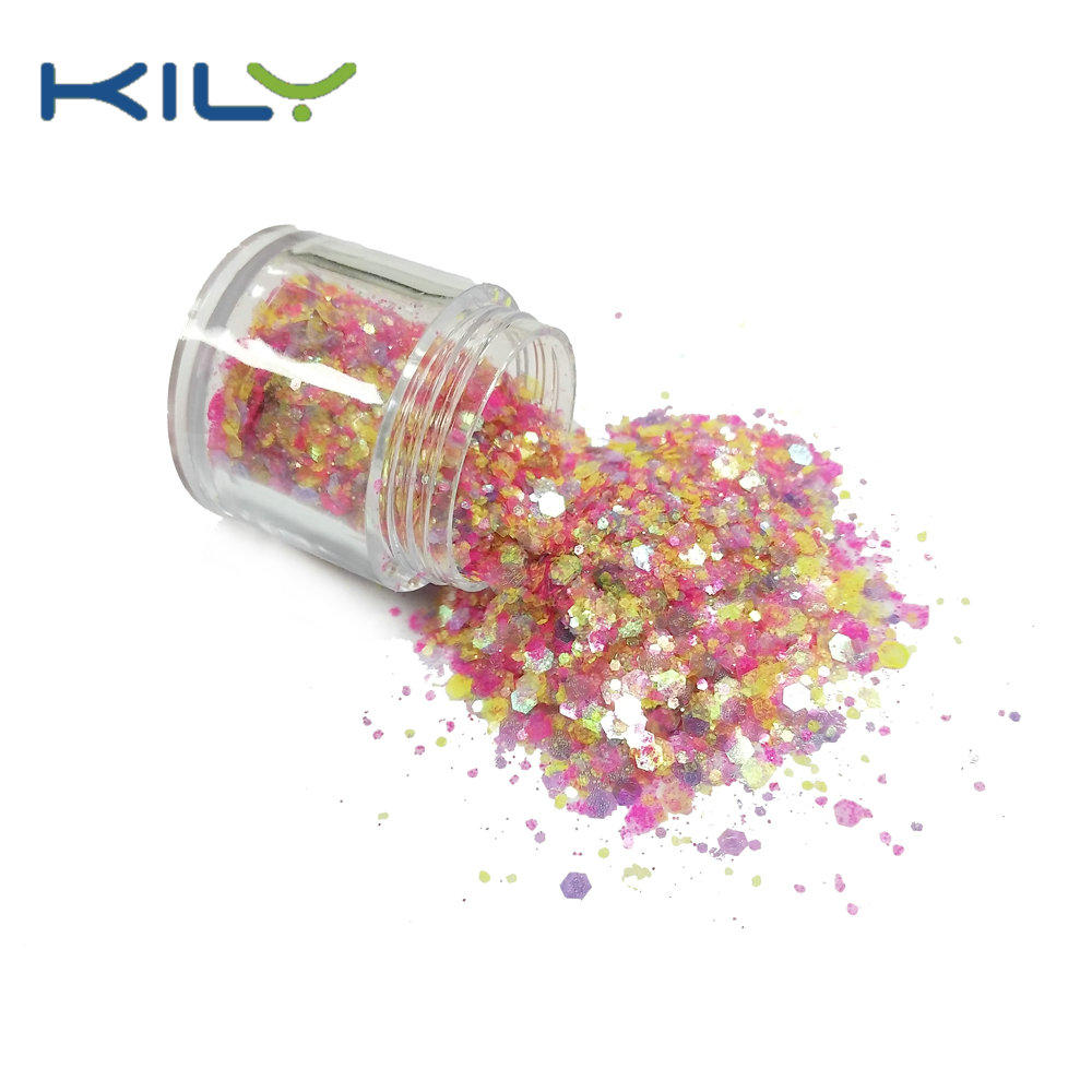 KILY Nail Glitter Rainbow Color Chunky Glitter for Pride Day Music Festival CG58