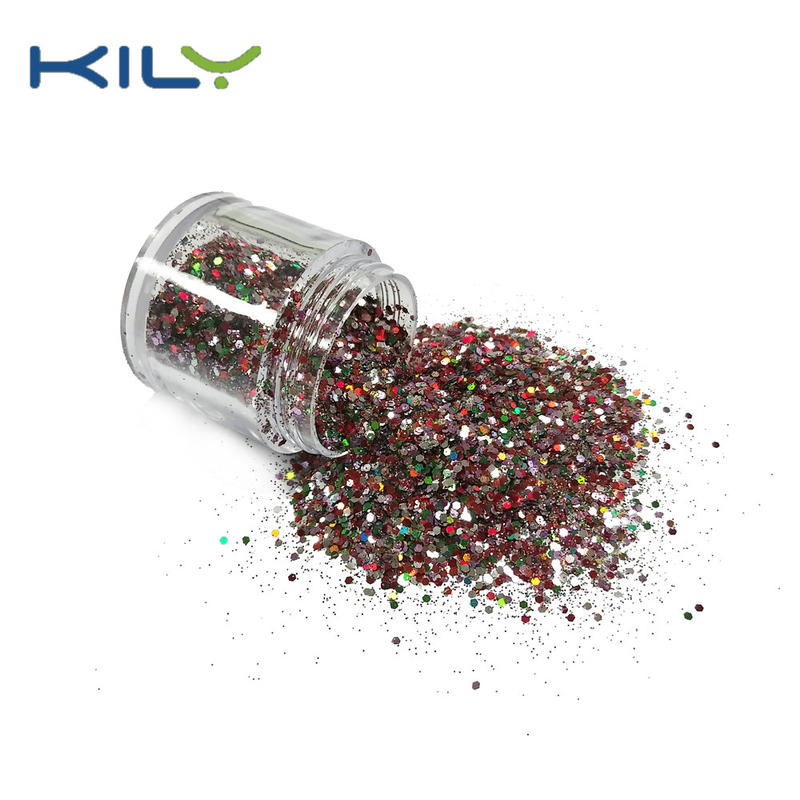 KILY Nail Glitter Mix Color Chunky Glitter Fine Glitter for Makeup CG59