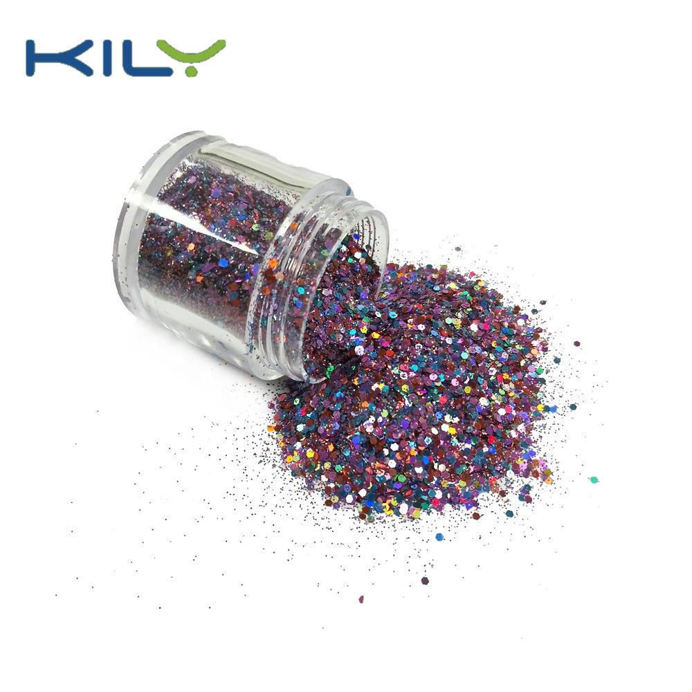 KILY Rainbow Color Chunky Glitter 10g Jars for Pride Day CG60