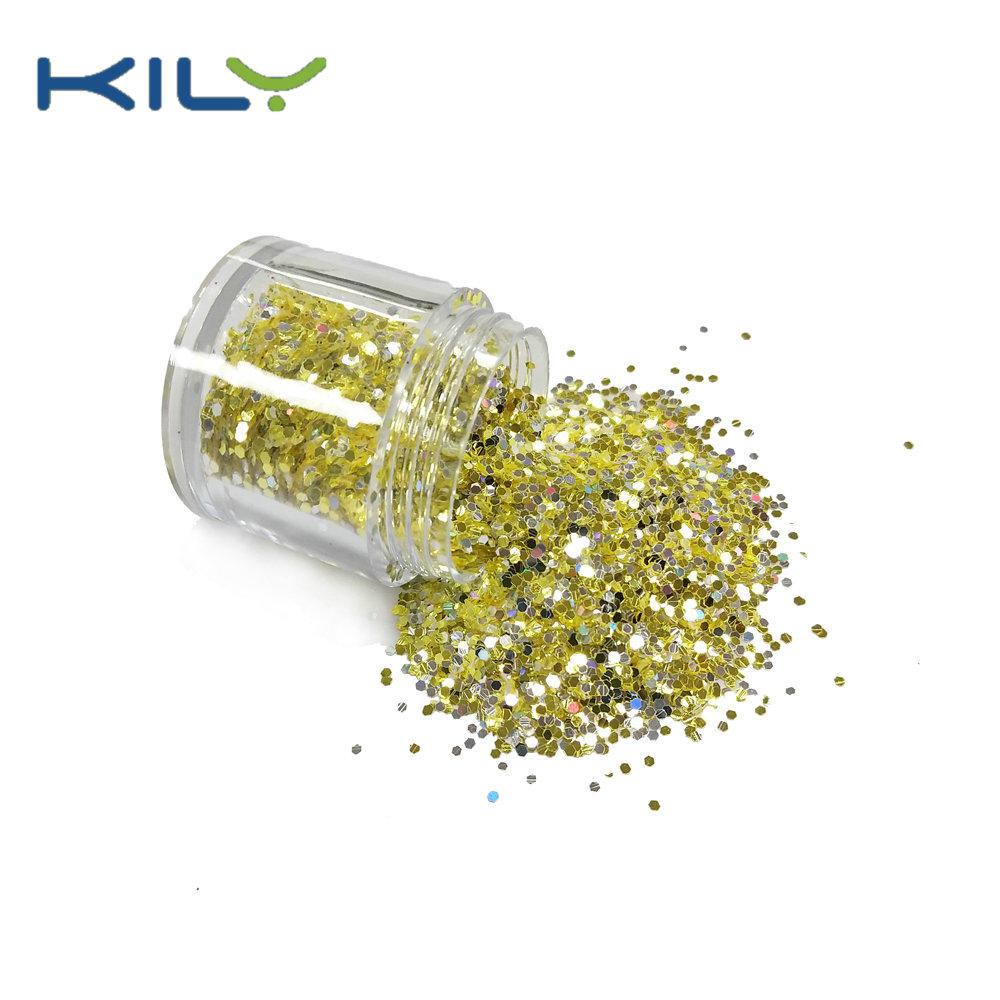 KILY Chunky Glitter Bulk Polyester 10g pot Glitter for Music Festival CG61