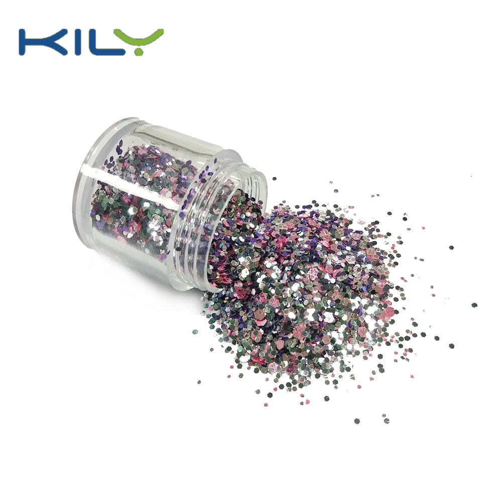 KILY Glitter Manufacturer Polyester Resin Glitter for Christmas CG64