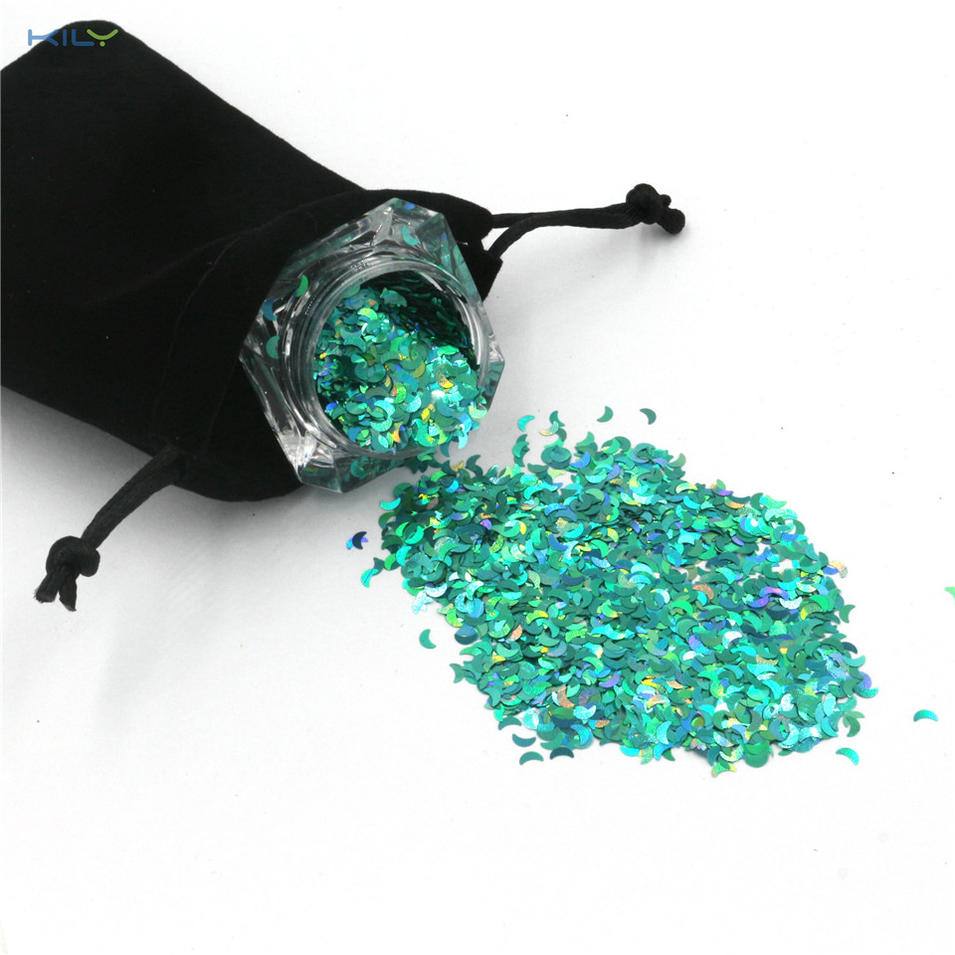 KILY Holographic Cosmetic Moon Glitter 10g Pot Glitter for Gift LB702