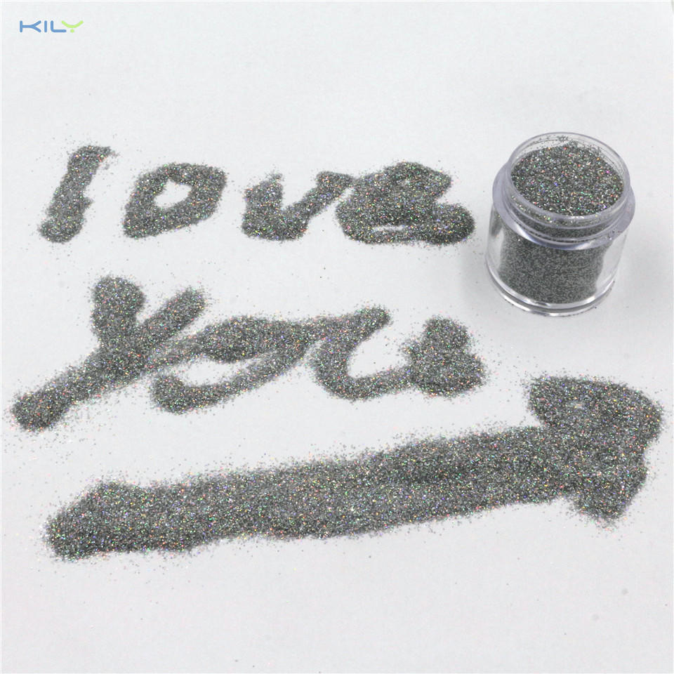 KILY Silver Holographic Glitter Polyester Glitter for Craft and Nail LB100