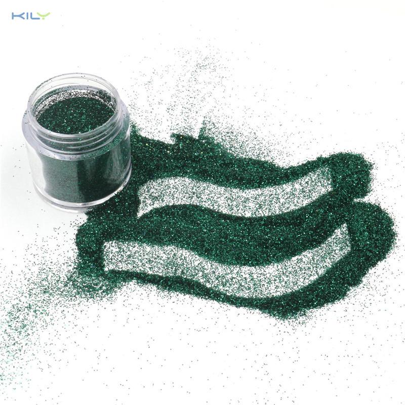 KILY Fine Glitter Green Color 10g Pot PET Glitter for Craft B0620