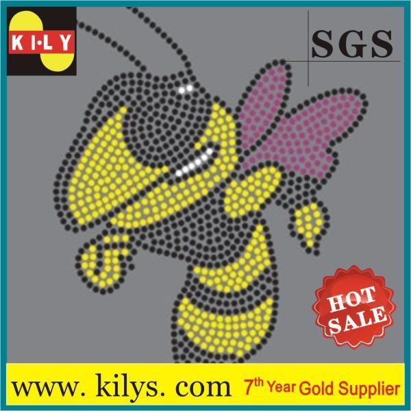 Animal Hot Fix Rhinestone Transfer Crystal Iron on Cloths KH-1002