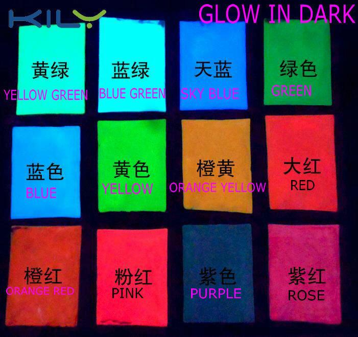 KILY Glow in Dark Extra Fine Glitter Neon Powder Pigment for Halloween