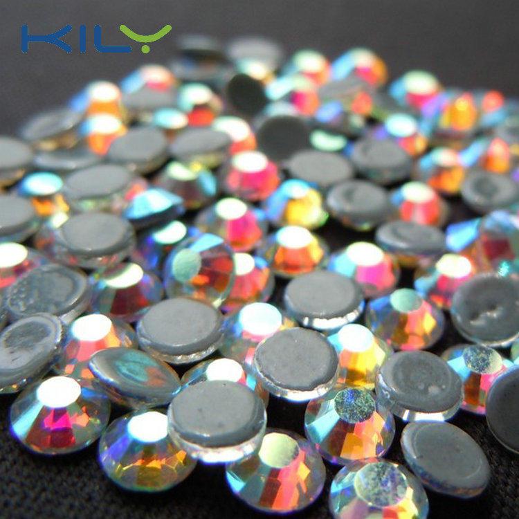 Swarovski Crystal AB hot fix rhinestone glue back glass crystal from KILY