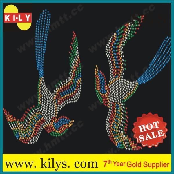 Animal Hot Fix Rhinestone Transfer Crystal Iron on Cloths KH-1002
