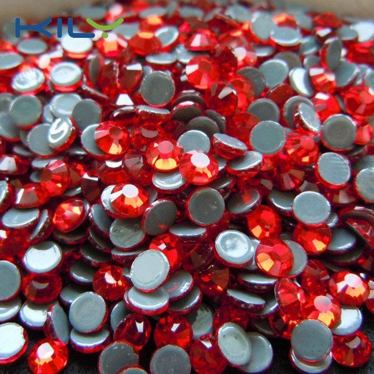 Siam hot fix rhinestone high flash high quality red rhinestone
