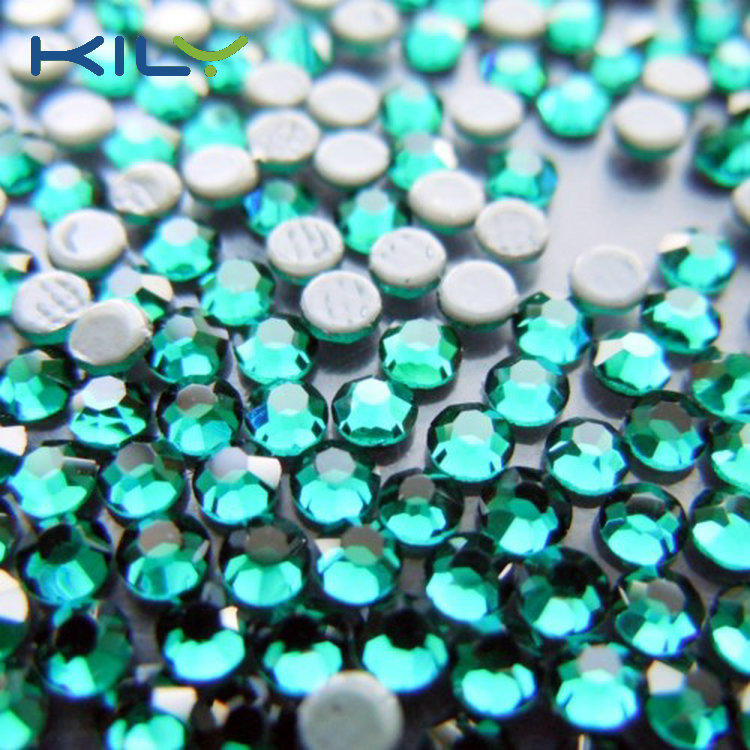 Top quality rhinestone SS6 emerald hot fix stone for clothes