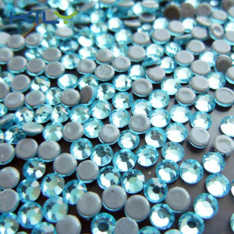 SS8 Aquamapine Korea rhinestone hot fix stone AAAA for clothes