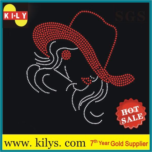 Sexy Women hot fix rhinestone sexy girl transfer motif for T-Shirt
