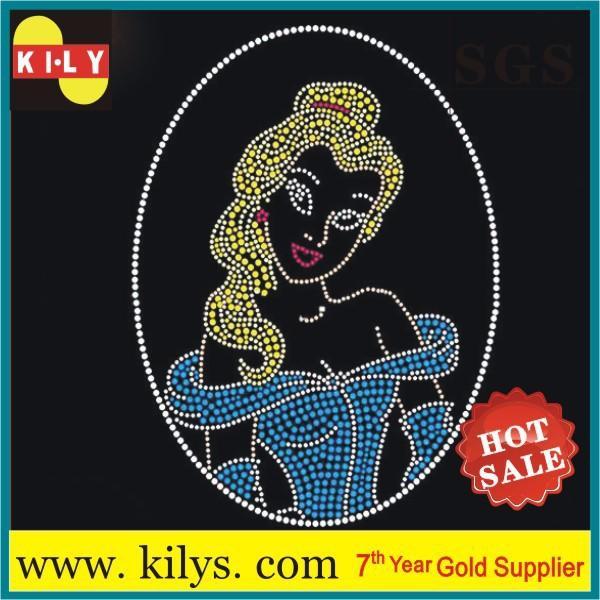Sexy Women hot fix rhinestone sexy girl transfer motif for T-Shirt