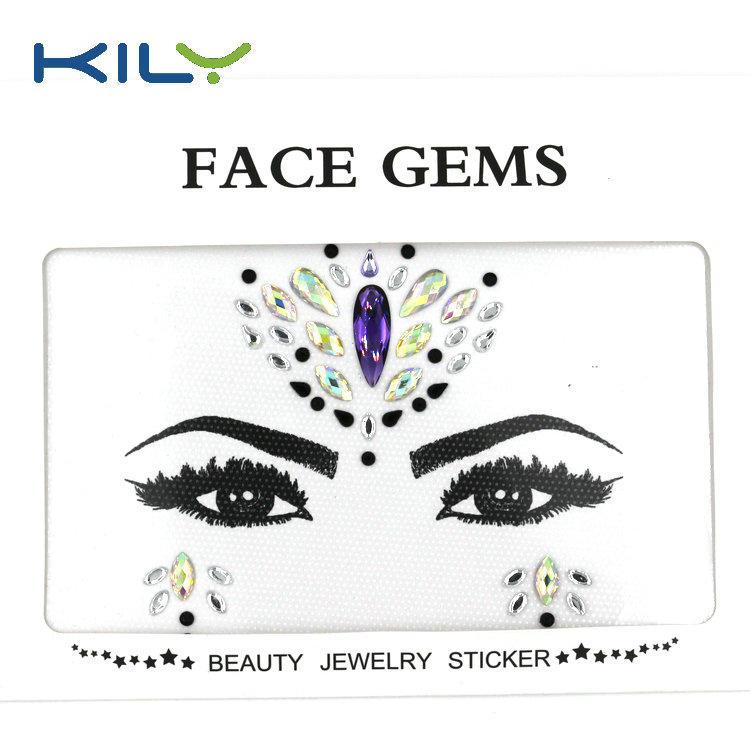 Rhinestone face gems self-adhesive jewels sticker KB-1148
