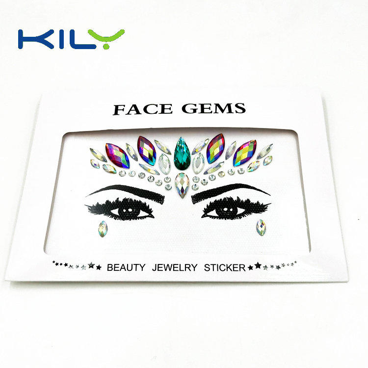 Festival face gems KILY crystal sticker for party makeup KB-1149