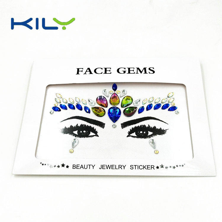 Crystal face body jewels sticker for festival makeup KB-1150