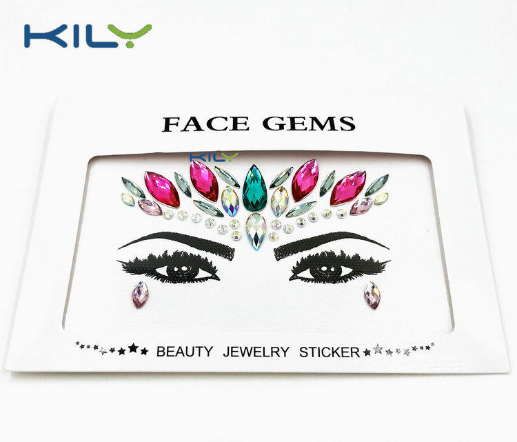 Pink Crystal Festival Face Gems for Body Makeup KB-1151