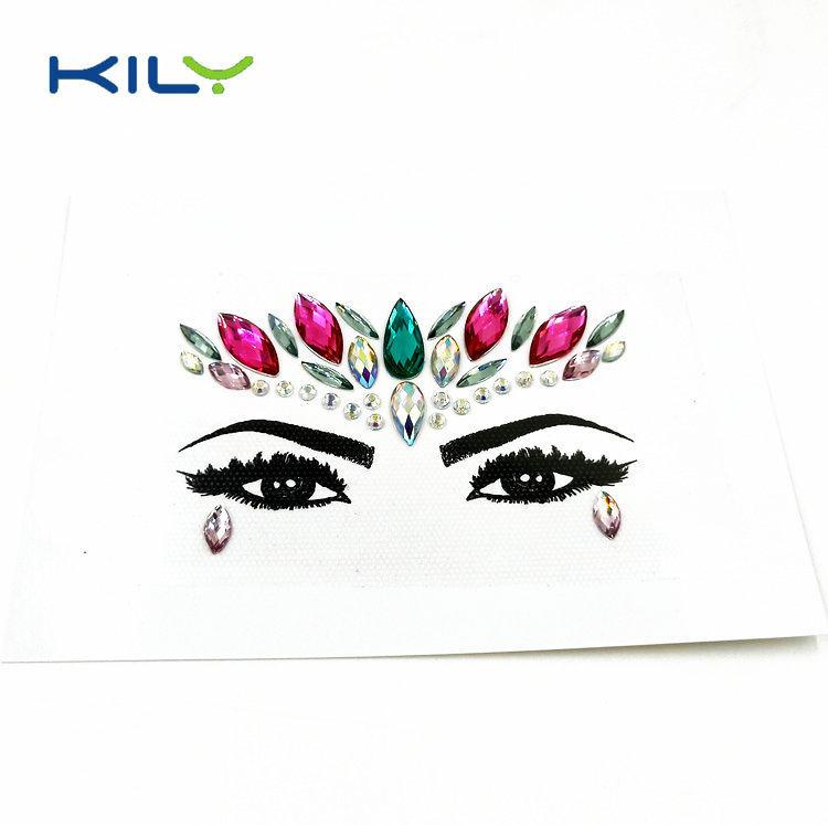 Pink Crystal Festival Face Gems for Body Makeup KB-1151