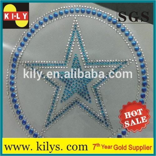 Stars hot fix rhinestone transfer iron on motif for hat